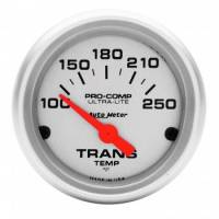 "Analog Gauges - Transmission Temperature Gauges - Auto Meter - Auto Meter Mini Ultra-Lite Electric Transmission Temperature Gauge - 2-1/16"" - 100-250 F"