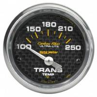 "Transmission Temp Gauges - Electric Transmission Temp Gauges - Auto Meter - Auto Meter Carbon Fiber Electric Transmission Temperature Gauge - 2-1/16"" - 100°-250° F"