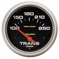 "Transmission Temp Gauges - Electric Transmission Temp Gauges - Auto Meter - Auto Meter Pro-Comp Electric Transmission Temperature Gauge - 2-5/8"" - 100°-250°"