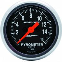 Analog Gauges - Exhaust Gas Temperature Gauges - Auto Meter - Auto Meter Sport-Comp Electric Pyrometer Gauge - 2-1/16 in.
