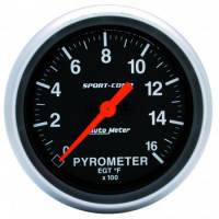 Analog Gauges - Exhaust Gas Temperature Gauges - Auto Meter - Auto Meter Sport-Comp Electric Pyrometer Gauge - 2-5/8 in.