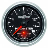 Analog Gauges - Exhaust Gas Temperature Gauges - Auto Meter - Auto Meter 2-1/16 Sport-Comp II Pyrometer Kit 0-1600