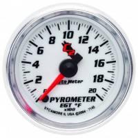 Gauges - Exhaust Gas Temp Gauges - Auto Meter - Auto Meter C2 Electric Pyrometer Gauge - 2-1/16 in.