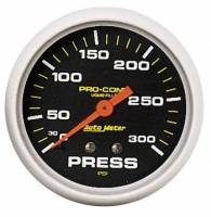 "Analog Gauges - Pressure Gauges - Auto Meter - Auto Meter Pro-Comp Liquid Filled Pressure Gauge - 2-5/8"" - 0-300 PSI"