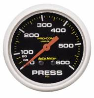 Analog Gauges - Pressure Gauges - Auto Meter - Auto Meter Pro-Comp Liquid-Filled Mechanical Pressure Gauge - 2-5/8""