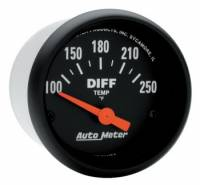 Gauges - Differential Temp Gauges - Auto Meter - Auto Meter Z-Series Electric Differential Temperature Gauge - 2-1/16""