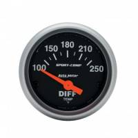 "Gauges - Differential Temp Gauges - Auto Meter - Auto Meter 2-1/16"" Sport Comp Electric Differential Temperature Gauge - 100 - 250° F"