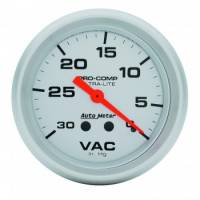 Analog Gauges - Vacuum Gauges - Auto Meter - Auto Meter Ultra-Lite Mechanical Vacuum Gauge - 2-5/8""