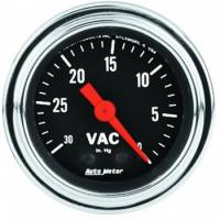 Analog Gauges - Vacuum Gauges - Auto Meter - Auto Meter Traditional Chrome - Mechanical Vacuum Gauge - 2-1/16""