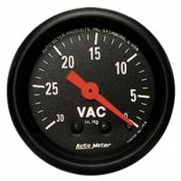 Gauges - Vacuum Gauges - Auto Meter - Auto Meter Z-Series Mechanical Vacuum Gauge - 2-1/16""
