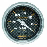 Analog Gauges - Vacuum Gauges - Auto Meter - Auto Meter Carbon Fiber Mechanical Vacuum Gauge - 2-1/16""