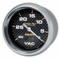 Analog Gauges - Vacuum Gauges - Auto Meter - Auto Meter Carbon Fiber Mechanical Vacuum Gauge - 2-5/8""
