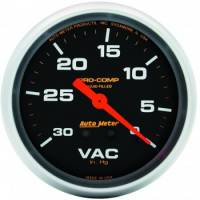 Gauges - Vacuum Gauges - Auto Meter - Auto Meter Pro-Comp Liquid Filled Vacuum Gauge - 2-5/8""