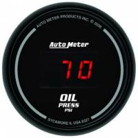 Gauges - Digital Oil Pressure Gauges - Auto Meter - Auto Meter Sport-Comp Digital Oil Pressure Gauge - 2-1/16 in.