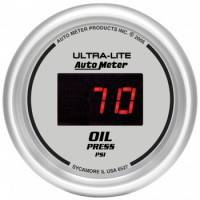 Gauges - Digital Oil Pressure Gauges - Auto Meter - Auto Meter Ultra-Lite Digital Oil Pressure Gauge - 2-1/16 in.