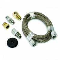 """Gauge Components - Gauge Line Kits - Auto Meter - Auto Meter Braided Stainless Steel Line Kit - 3 Ft. #4 - 3/16"""" I.D. Fittings"""