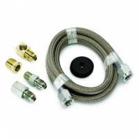 """Gauge Components - Gauge Line Kits - Auto Meter - Auto Meter Braided Stainless Steel Line Kit - 4 Ft. #4 - 3/16"""" I.D. Fittings"""