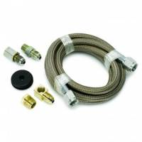 """Gauge Components - Gauge Line Kits - Auto Meter - Auto Meter Braided Stainless Steel Line Kit - 6 Ft. #4 - 3/16"""" I.D. Fittings"""