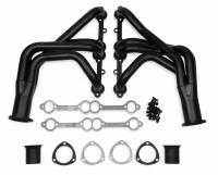 "Exhaust System - Flowtech - Flowtech Long Tube Headers - 1963-1982 Corvette 283/400 - 1.625"" - 3"" Collector - Black Paint"