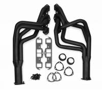"Full Length Headers - Pontiac Headers - Flowtech - Flowtech Long Tube Headers - 1968-1977 Oldsmobile Cutlass/442 - 350/403 - 1.75"" - 3"" Collector - Black Paint"