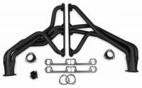 """Full Length Headers - Jeep Headers - Flowtech - Flowtech Long Tube Headers- 1972-82 Jeep CJ 5/6/7 - 290/401 - Automatic Trans - 1.626"""" - 3"""" Collector - Black Paint"""