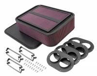 "Air Cleaners and Intakes - Air Box Assemblies - K&N Filters - K&N Generation 2 Carbon Fiber Sprint Car Air Box - 4"" Tall"