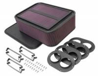 "Fuel System Components - Air Filters - K&N Filters - K&N Generation 2 Carbon Fiber Sprint Car Air Box - 19"" L x 14"" W x 6-1/2"" Tall"