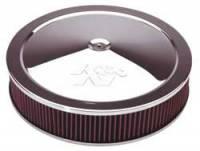 "K&N Filters - K&N Air Cleaner Assembly - Drop Base - Chrome - 16"" x 3-1/4"" - 7-5/16"" Carb Flange - Image 2"