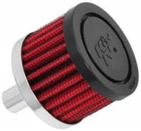 "Drivetrain - K&N Filters - K&N Steel Base Fuel Cell, Rear End Breather Vent Filter (-10 AN) - 1/2"" Flange I.D."