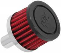 "Drivetrain - K&N Filters - K&N Steel Base Fuel Cell, Rear End Breather Vent Filter (5/8"" Hose) - 5/8"" Flange I.D."
