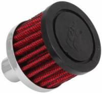"Drivetrain - K&N Filters - K&N Steel Base Fuel Cell, Rear End Breather Vent Filter (3/4"" Hose) - 3/4"" Flange I.D."