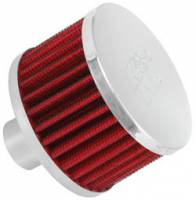 "Drivetrain - K&N Filters - K&N Steel Base Fuel Cell, Rear End Breather Vent Filter - 1"" Flange I.D."
