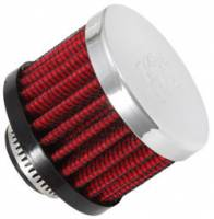 "Drivetrain - K&N Filters - K&N Clamp-On Transmission, Rear End Breather Vent Filter - 5/8"" Flange I.D."
