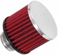 "Drivetrain - K&N Filters - K&N Clamp-On Transmission, Rear End Breather Vent Filter - 1-1/4"" Flange I.D."
