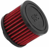 "Engine Components - K&N Filters - K&N Clamp-On Crankcase Breather Vent Filter - Rubber Base - 1"" Flange I.D."