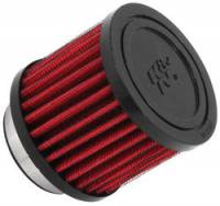 "Engine Components - K&N Filters - K&N Clamp-On Crankcase Breather Vent Filter - Rubber Base - 1-3/4"" Flange I.D."