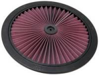 "Air Filter Elements - 14"" Air Filters - K&N Filters - K&N XStream® Air Flow Top (Only) - Aluminum - Black Powder Coat - 16"""