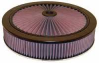 "K&N Filters - K&N XStream® Top Air Cleaner Assembly - Raised Base - Black- 14"" x 4-5/8"" - 5-1/8"" Carb Flange - Image 1"
