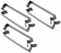 "Fuel System Components - Sprint Car Air Box and Filters - K&N Filters - K&N Sprint Air Box Steel Spring Clip Clamps - 5.99"" x .75"" - Fits 6"" Tall Air Box (Set of 6)"
