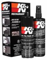 Air Filters - Air Filter Cleaners & Oil - K&N Filters - K&N Recharger Filter Care Service Kit - 12 oz. Pump Spray Cleaner/6.5 oz. Aerosol Filter Oil