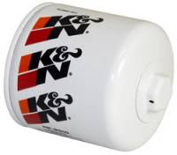 "Engine Components - K&N Filters - K&N Performance Gold Oil Filter - Canister - 4"" Tall - 22 mm x 1.5 Thread - Chrysler/Ford/Jeep/Land Rover/Lincoln/Mazda/Mercury/Mopar"