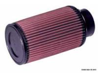 "Air Filter Elements - Conical Air Filters - K&N Filters - K&N Universal Air Filter - Conical - 5"" Base - 4-5/8"" Top - 8"" Tall - 3"" Flange"