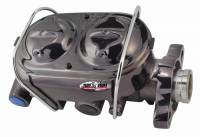 "Master Cylinders - Tuff Stuff Master Cylinders - Tuff-Stuff Performance - Tuff Stuff Master Cylinder - Dual Reservoir - 1 1/8"" Bore - 9/16""/1/2"" Driver Side Ports - Black Chrome"