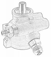 "Steering Components - Tuff-Stuff Performance - Tuff Stuff GM Type II Power Steering Pump -6 AN/-10 AN Fitting - 3/8"" Hole"