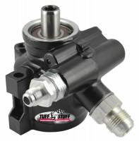 "Steering Components - Tuff-Stuff Performance - Tuff Stuff GM Type II Power Steering Pump -6 AN/-10 AN Fitting - 3/8"" Hole - Black"