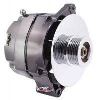 Ignition & Electrical System - Tuff Stuff Performance - Tuff Stuff Alternator - 100 AMP - 1-Wire - GM - 6-Groove Serpentine Pulley - Black Chrome