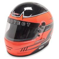 Karting Gear - Karting Helmets - Pyrotect - Pyrotect Rebel Graphic Pro Airflow Helmet - Black/Orange