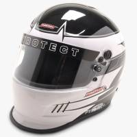 Snell SA2015 Rated Full Face Helmets - Pyrotect Snell SA2015 Rated Full Face Helmets - Pyrotect - Pyrotect Rebel Graphic Pro Airflow Duckbill Helmet - Black/White