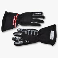 Kids Race Gear - Kids Racing Gloves - Pyrotect - Pyrotect Pro Series Reverse Stitch Gloves - Black