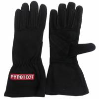 Kids Race Gear - Kids Racing Gloves - Pyrotect - Pyrotect One Layer Driving Gloves - Black